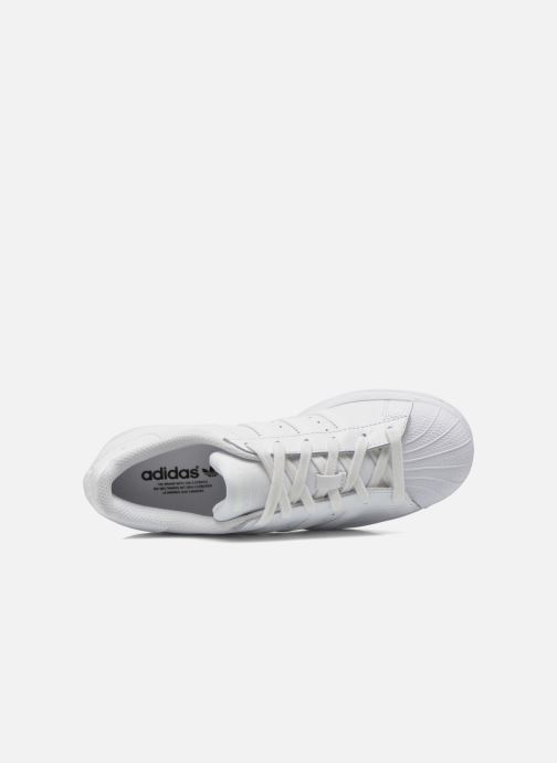 Baskets adidas originals Superstar Foundation J Blanc vue gauche