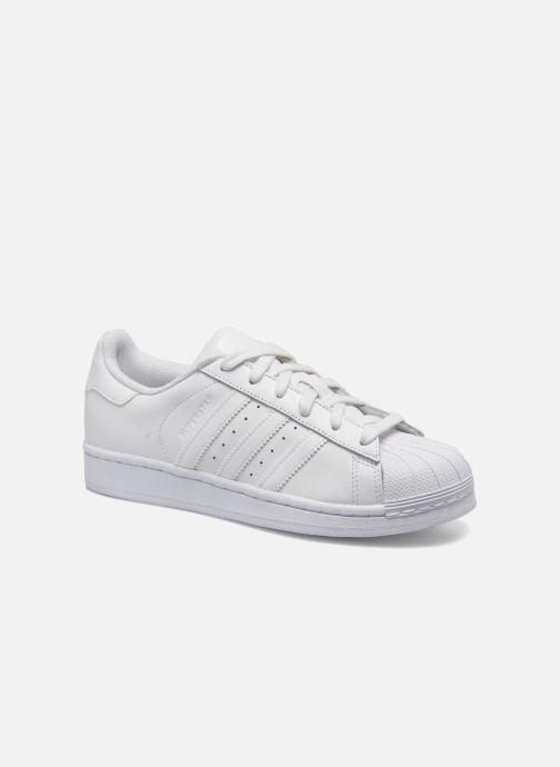 Baskets adidas originals Superstar Foundation J Blanc vue détail/paire
