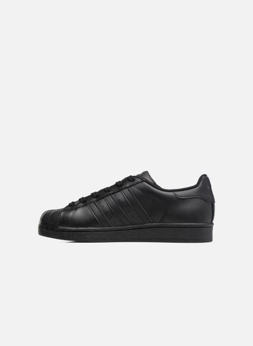 Baskets adidas originals Superstar Foundation J Noir vue face