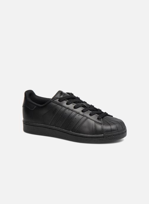 Baskets adidas originals Superstar Foundation J Noir vue détail/paire