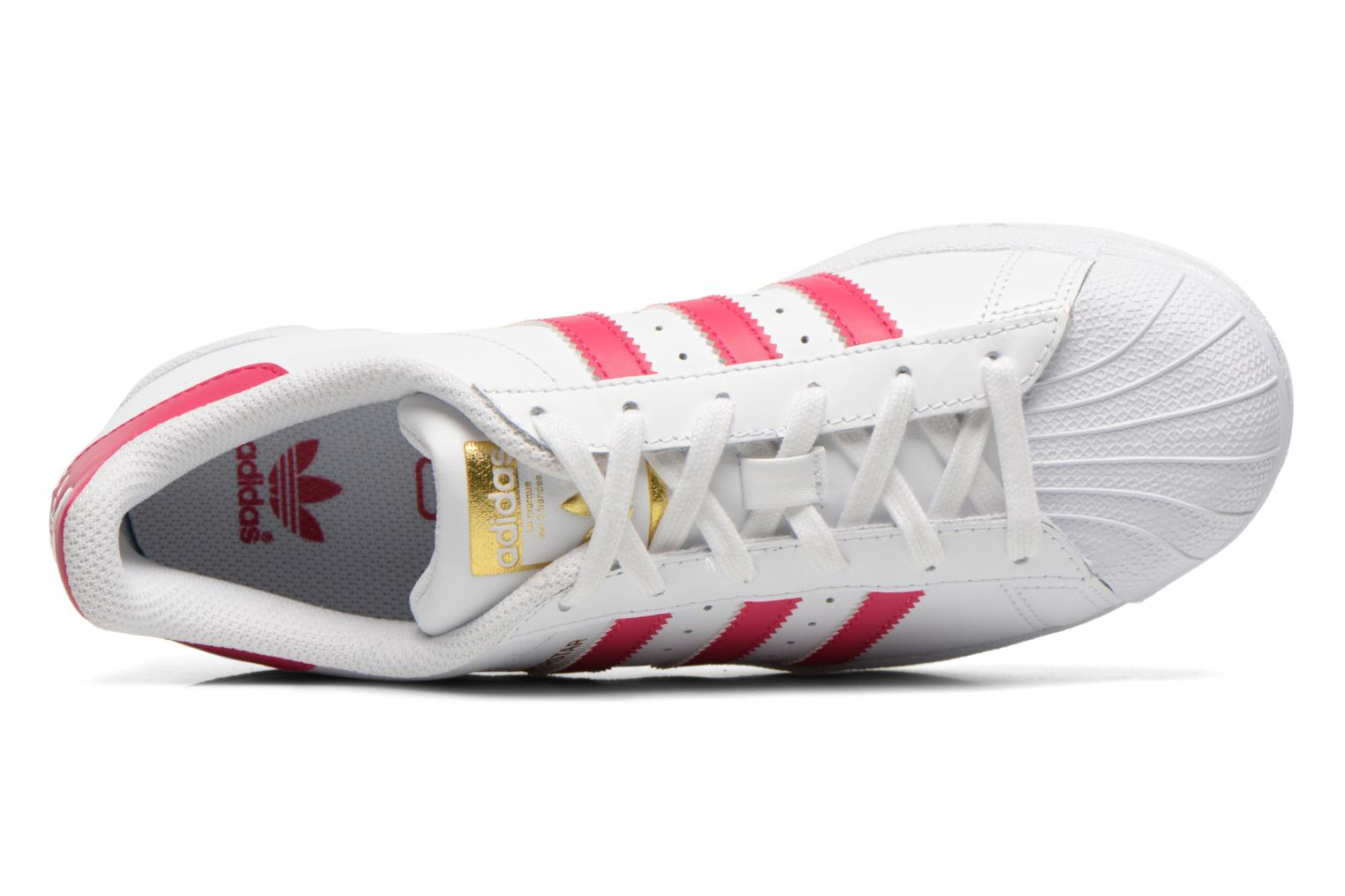 Sneakers Adidas Originals Superstar Foundation J Bianco immagine sinistra