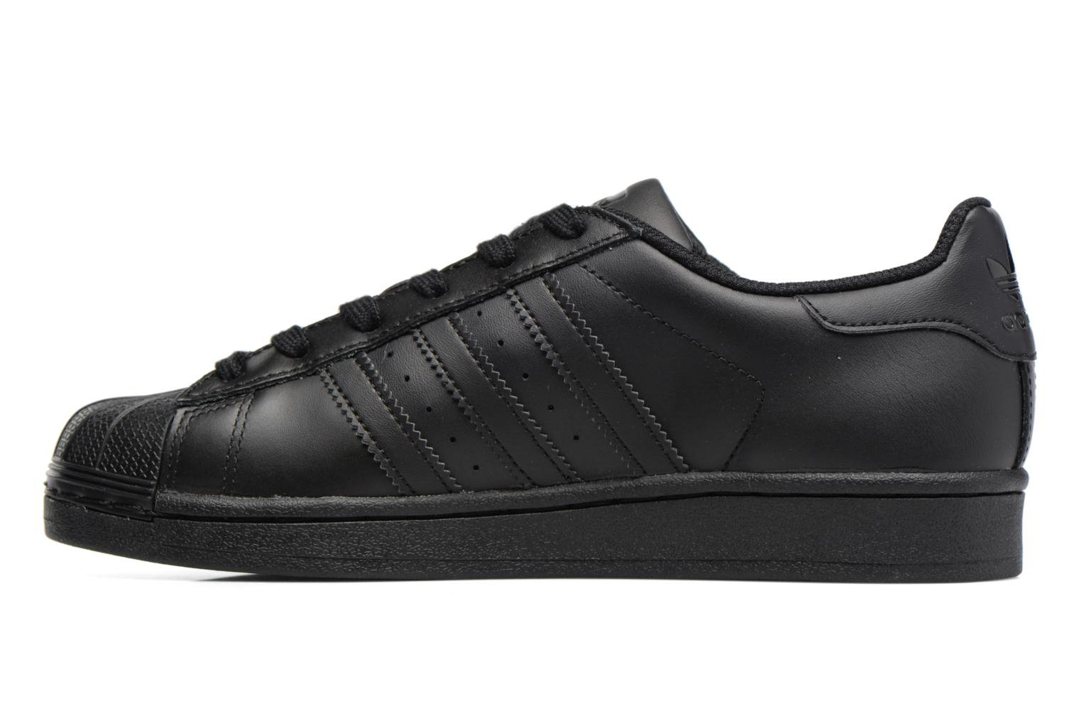 Baskets Adidas Originals Superstar Foundation J Noir vue face