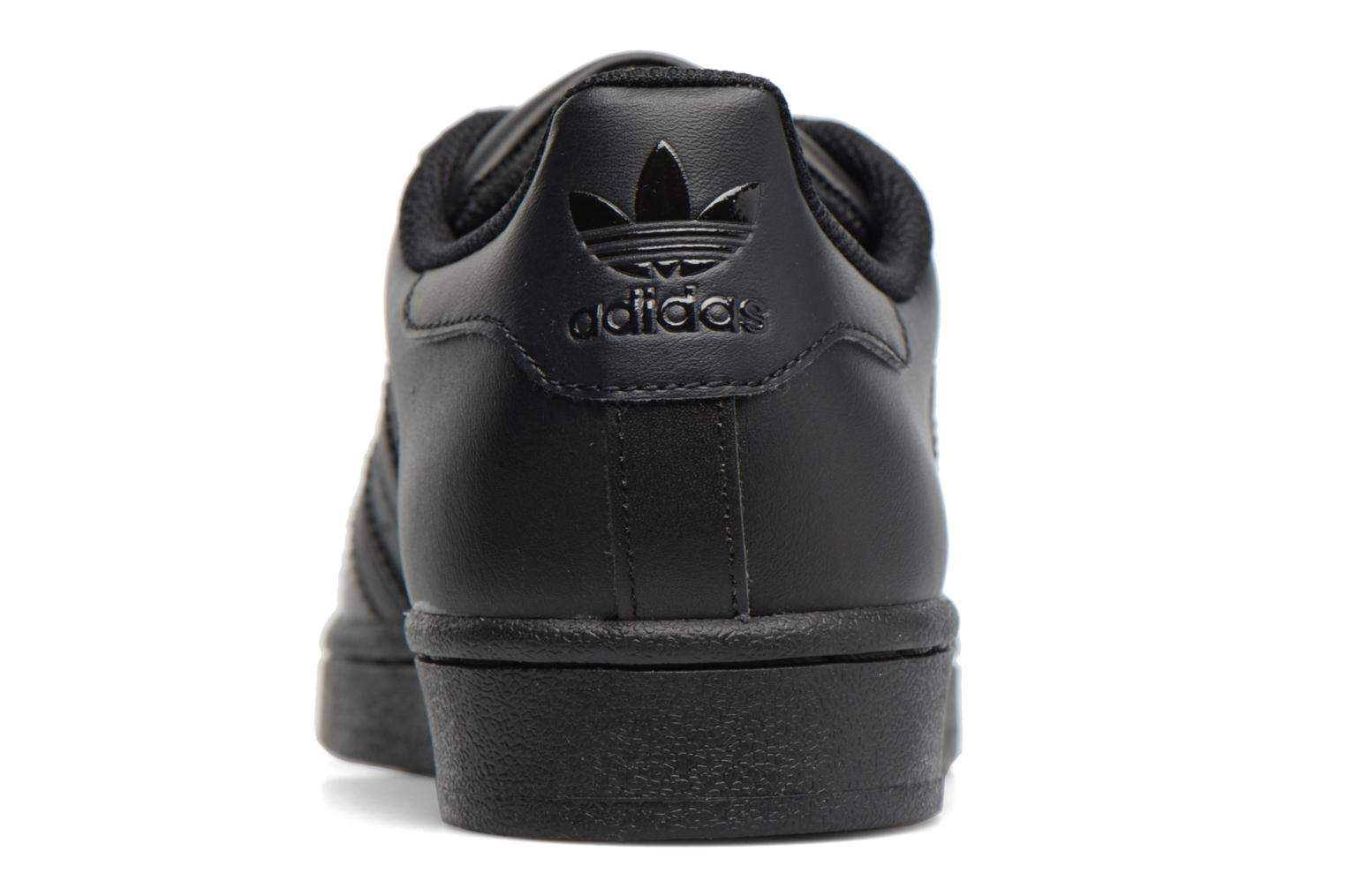 Baskets Adidas Originals Superstar Foundation J Noir vue droite