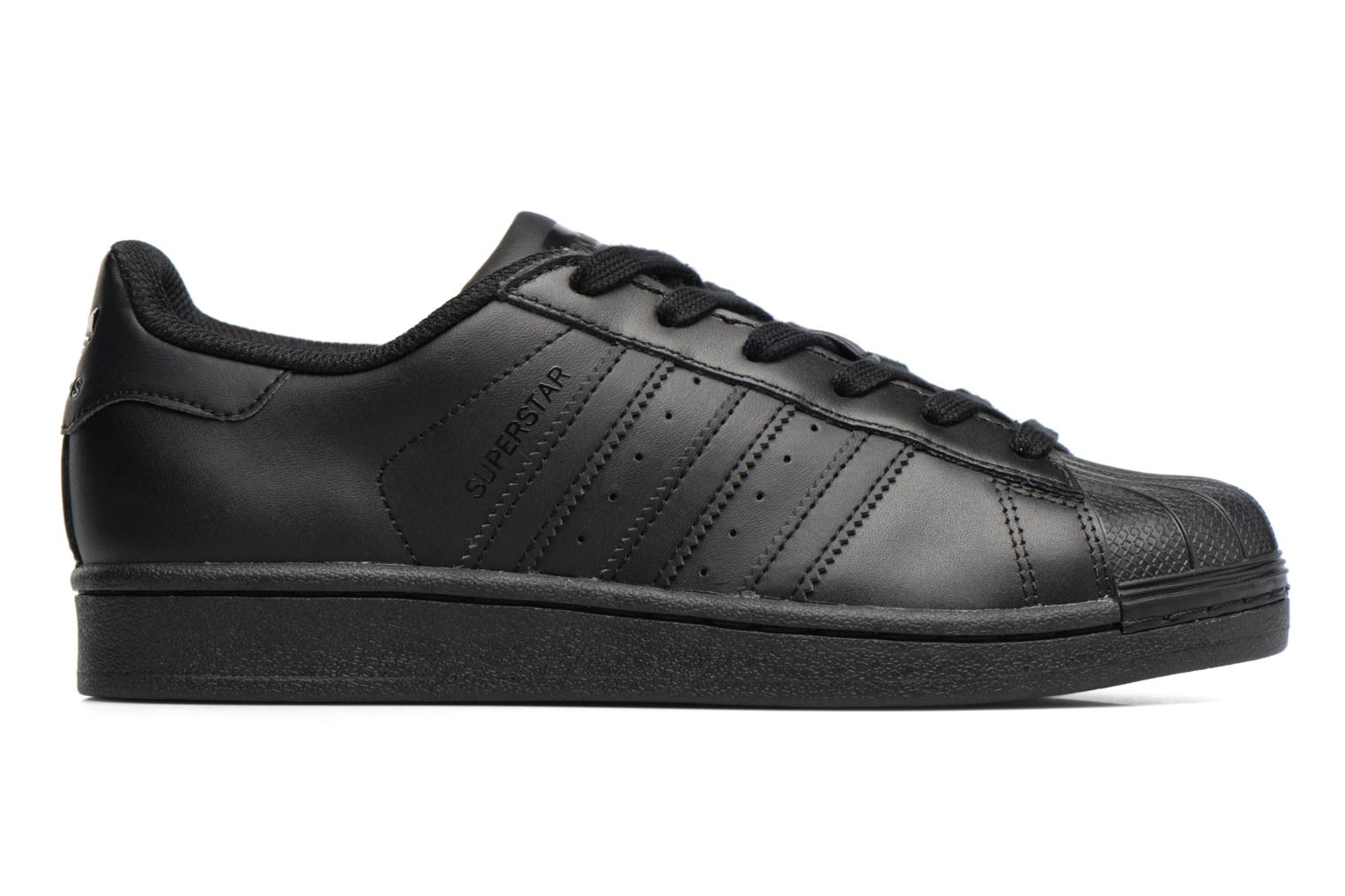 Baskets Adidas Originals Superstar Foundation J Noir vue derrière