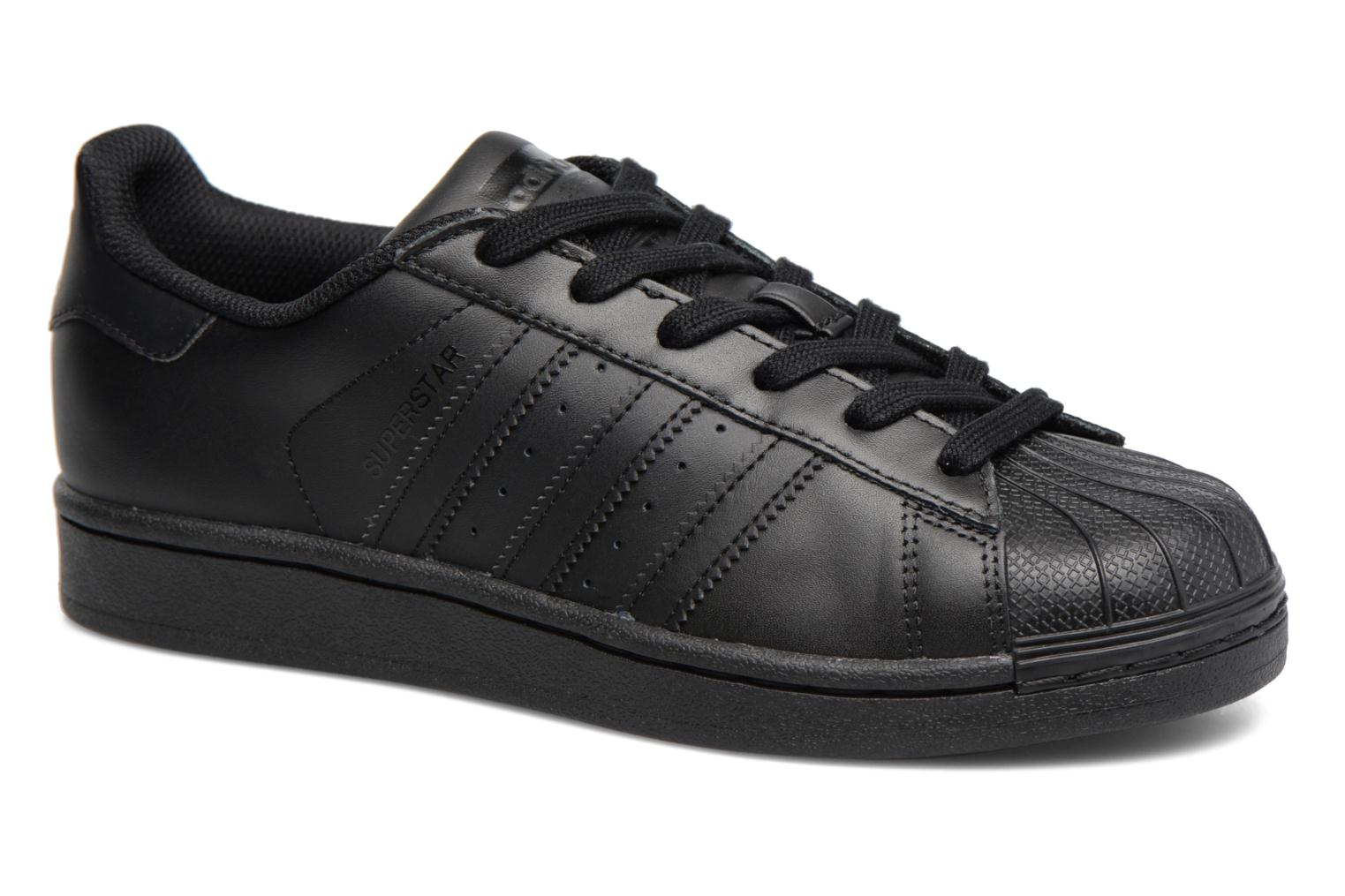 Baskets Adidas Originals Superstar Foundation J Noir vue détail/paire