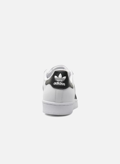 Deportivas adidas originals SUPERSTAR J Blanco vista lateral derecha
