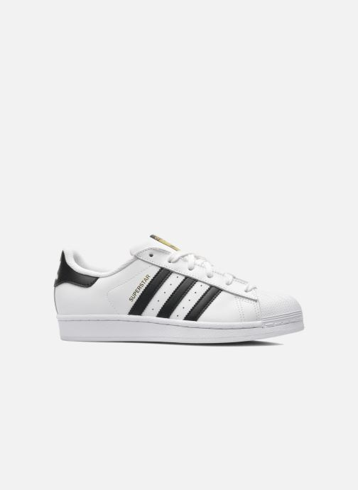 Baskets adidas originals SUPERSTAR J Blanc vue derrière