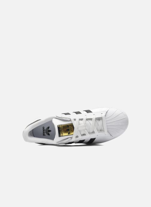 Baskets adidas originals SUPERSTAR J Blanc vue gauche
