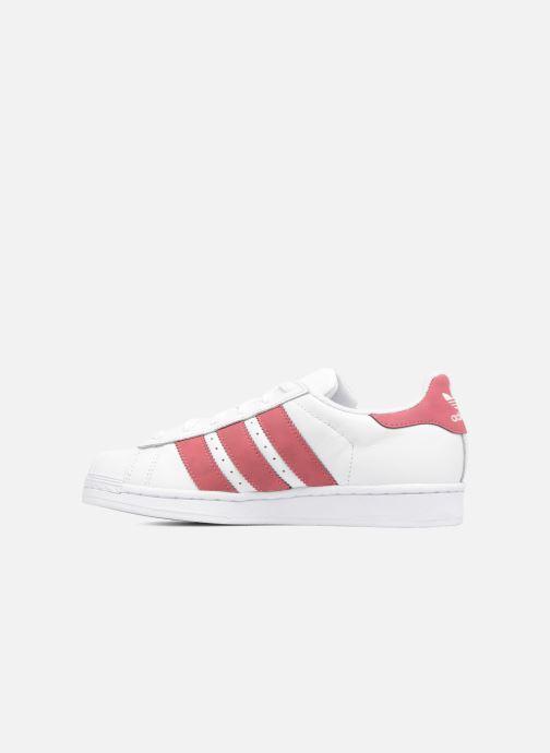 Sneakers adidas originals SUPERSTAR J Wit voorkant