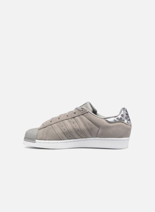 Sneakers adidas originals SUPERSTAR J Grijs voorkant