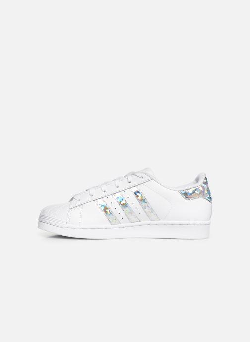 Sneakers adidas originals SUPERSTAR J Bianco immagine frontale
