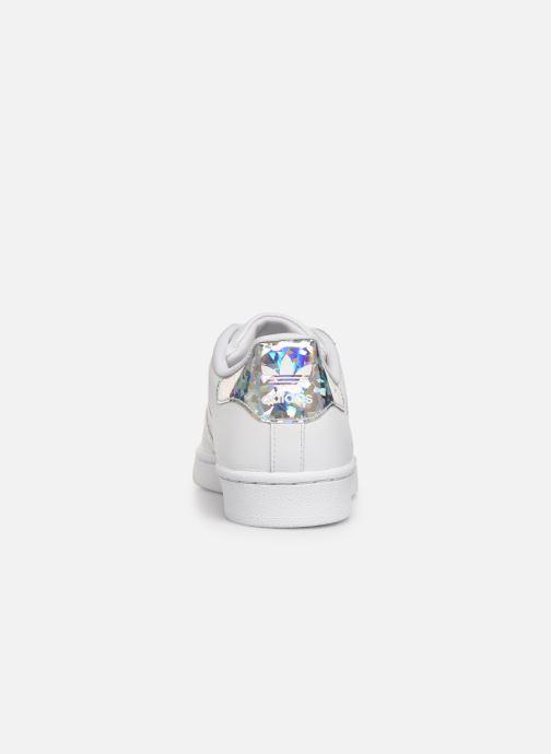 Sneakers adidas originals SUPERSTAR J Wit rechts