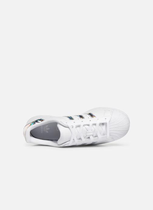 Baskets adidas originals SUPERSTAR J Blanc vue gauche