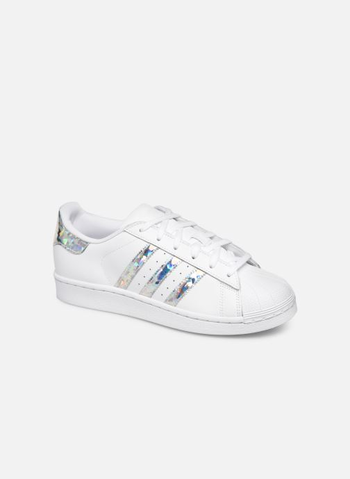 Baskets adidas originals SUPERSTAR J Blanc vue détail/paire