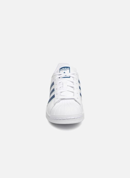 Sneaker adidas originals SUPERSTAR J weiß schuhe getragen