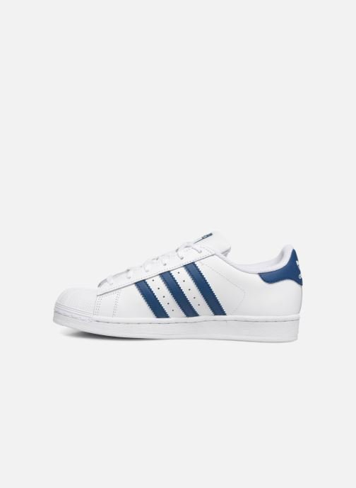 Baskets adidas originals SUPERSTAR J Blanc vue face