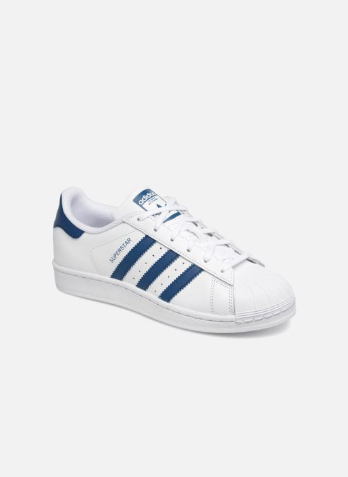 Baskets adidas originals SUPERSTAR J Blanc vue détail/paire