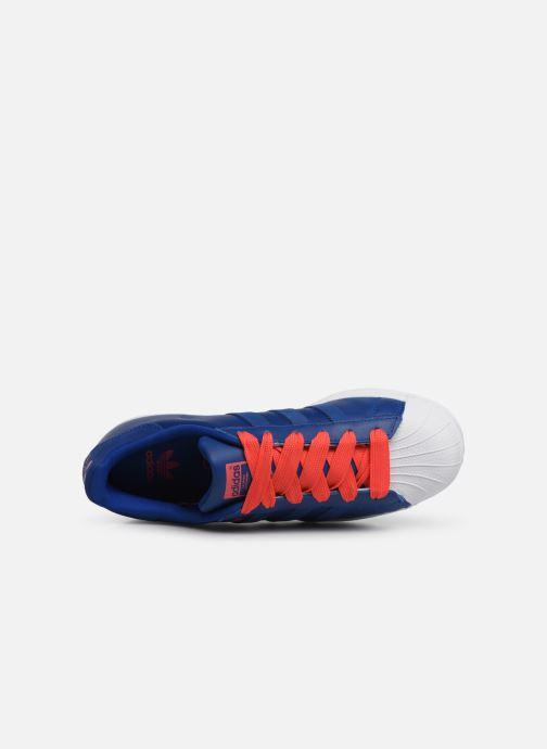 Sneakers adidas originals SUPERSTAR J Blå bild från vänster sidan