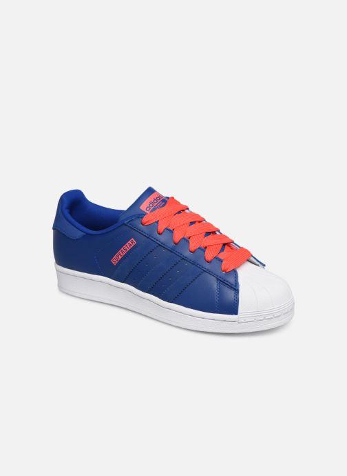 Sneakers adidas originals SUPERSTAR J Blå detaljerad bild på paret