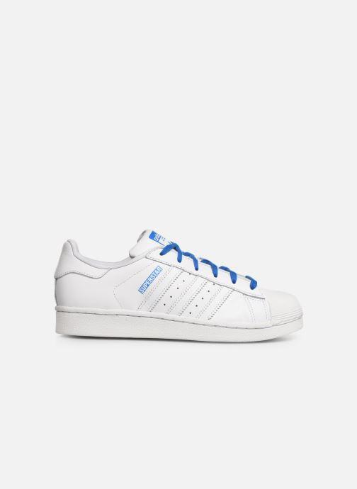Baskets adidas originals SUPERSTAR J Blanc vue derrière
