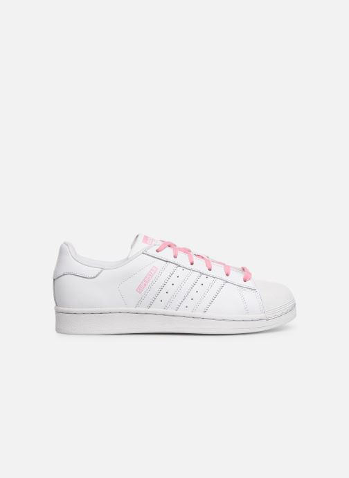 Trainers adidas originals SUPERSTAR J White back view