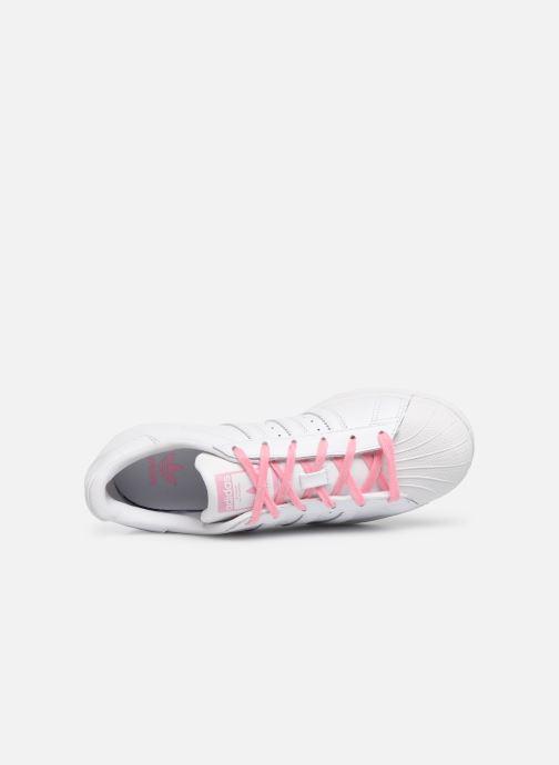 Sneakers adidas originals SUPERSTAR J Bianco immagine sinistra