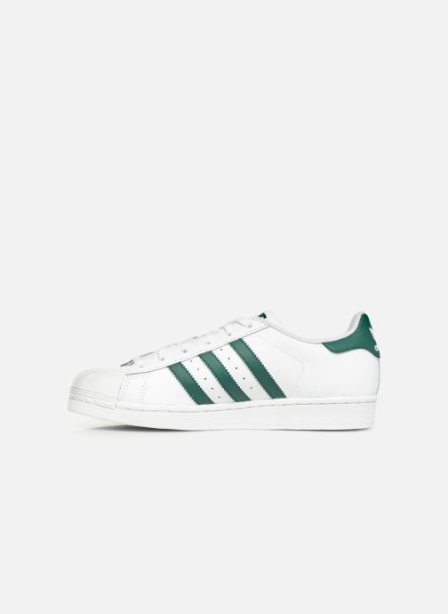 Sneakers adidas originals SUPERSTAR J Wit voorkant
