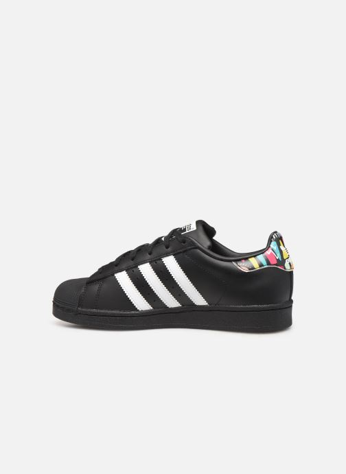 Sneakers adidas originals SUPERSTAR J Zwart voorkant