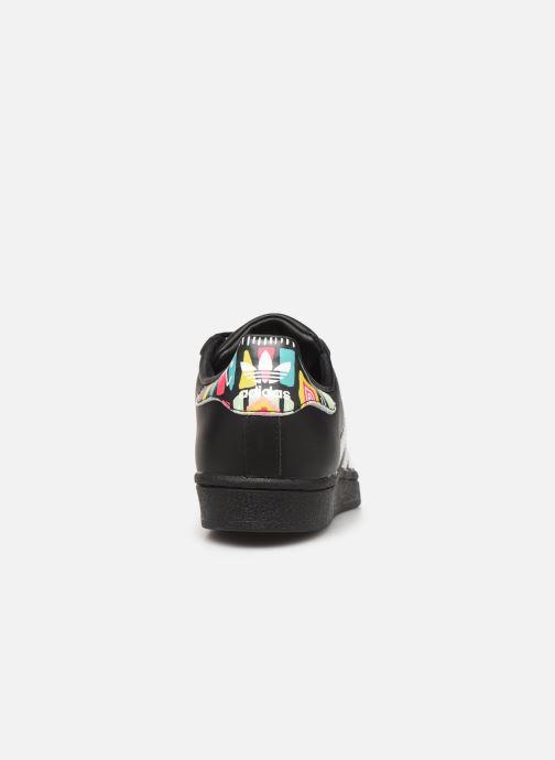 Sneakers adidas originals SUPERSTAR J Zwart rechts