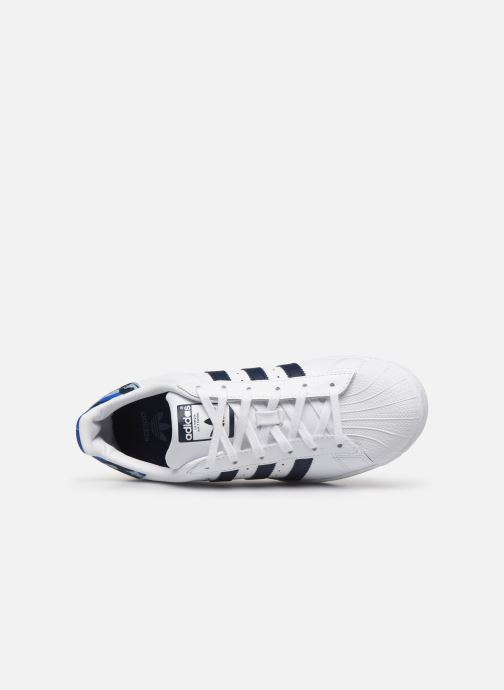 Sneakers adidas originals SUPERSTAR J Wit links