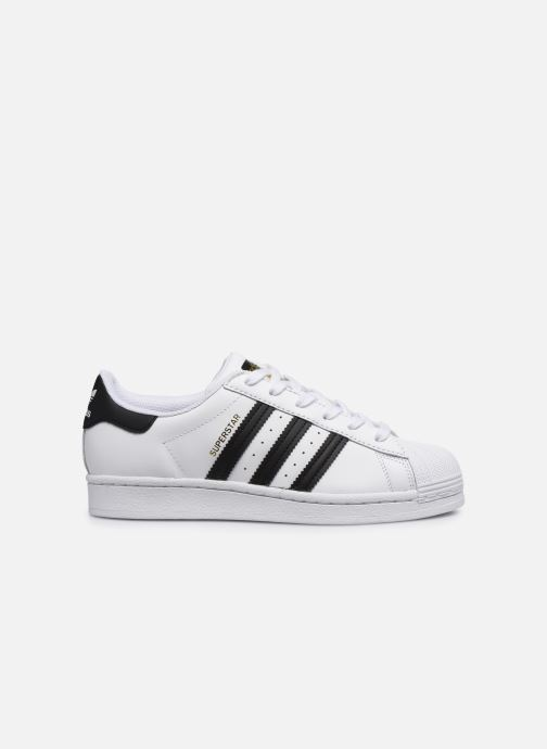 Sneakers adidas originals SUPERSTAR J Wit achterkant