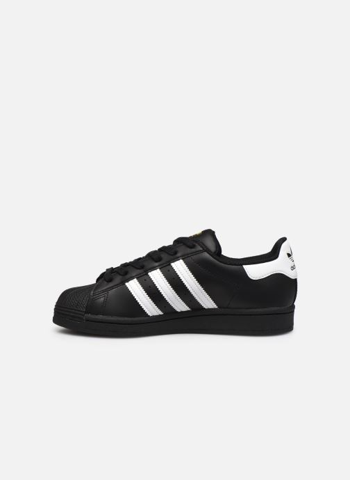 Deportivas adidas originals SUPERSTAR J Negro vista de frente
