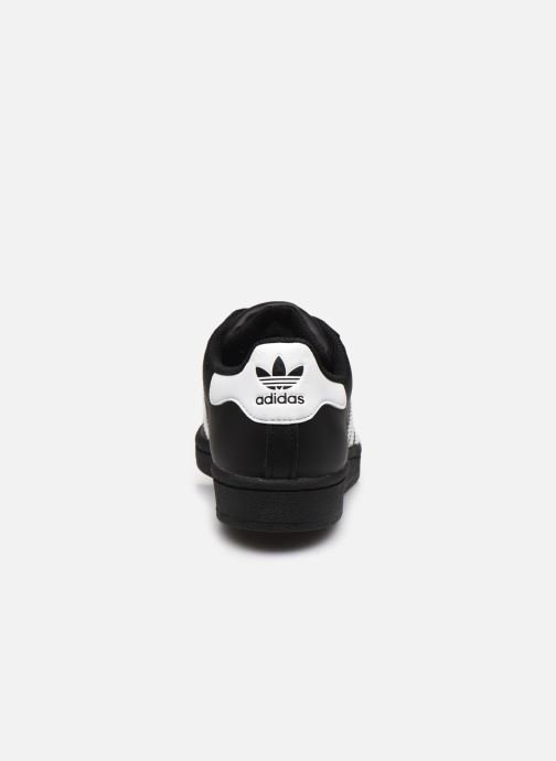 Deportivas adidas originals SUPERSTAR J Negro vista lateral derecha