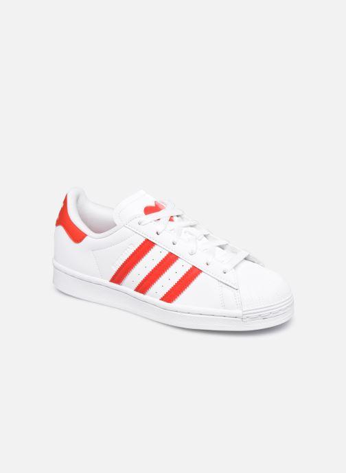 Sneakers adidas originals SUPERSTAR J Hvid detaljeret billede af skoene