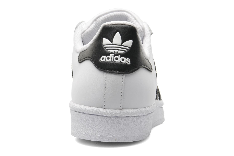 Deportivas Adidas Originals SUPERSTAR J Blanco vista lateral derecha