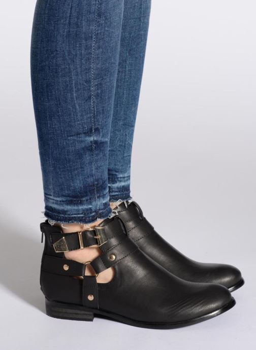 Stiefeletten & Boots Divine Factory Akruks beige ansicht von unten / tasche getragen