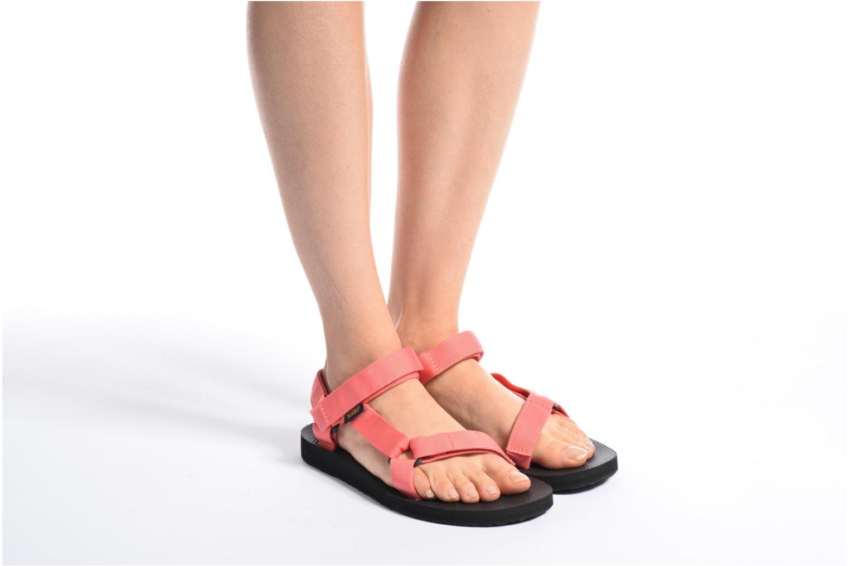 Sandales et nu-pieds Teva Original universal W Rose vue bas / vue portée sac