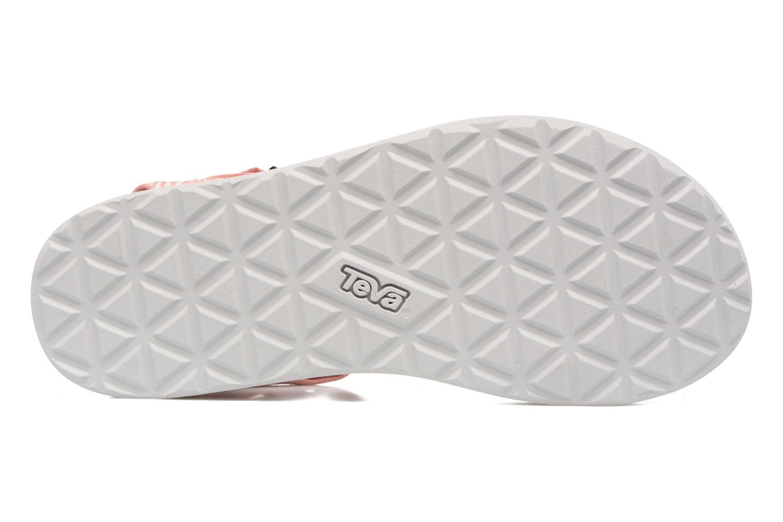 Sandales et nu-pieds Teva Original universal W Rose vue haut