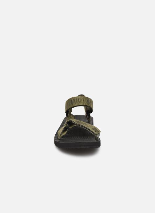 Sandales et nu-pieds Teva Original universal Vert vue portées chaussures
