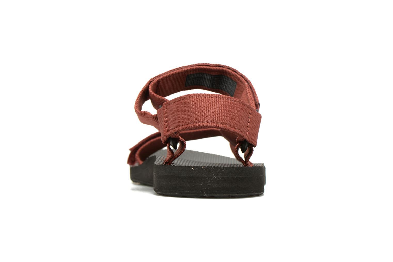Sandales et nu-pieds Teva Original universal Rouge vue droite