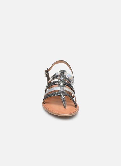 Sandales et nu-pieds Les Tropéziennes par M Belarbi Bianca Gris vue portées chaussures