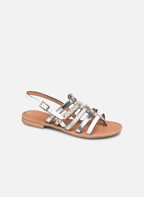 Sandals Les Tropéziennes par M Belarbi Bianca White detailed view/ Pair view