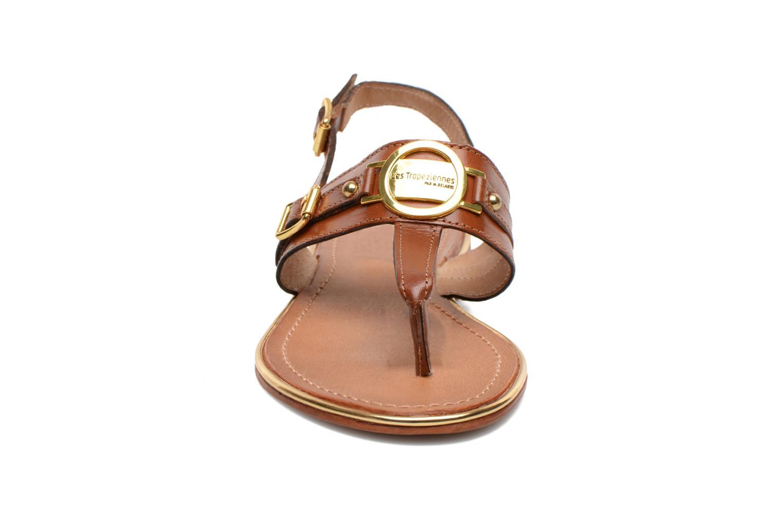 Sandales et nu-pieds Les Tropéziennes par M Belarbi Bebop Marron vue portées chaussures