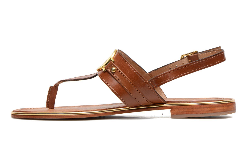 Sandales et nu-pieds Les Tropéziennes par M Belarbi Bebop Marron vue face