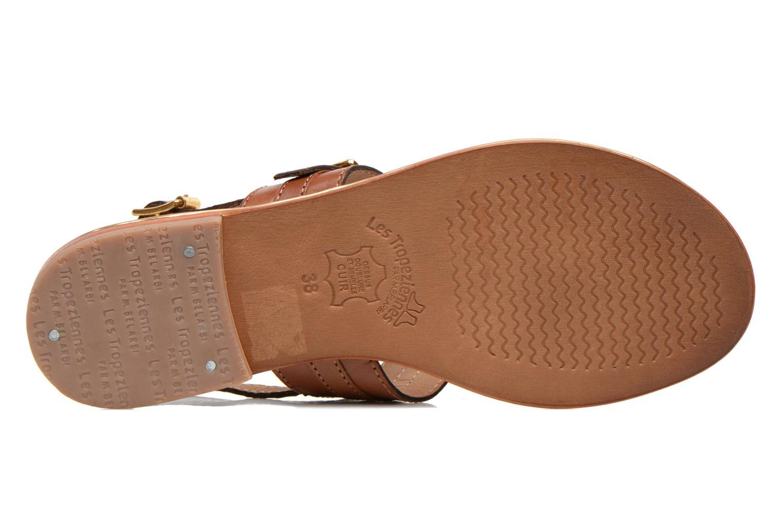 Sandales et nu-pieds Les Tropéziennes par M Belarbi Bebop Marron vue haut