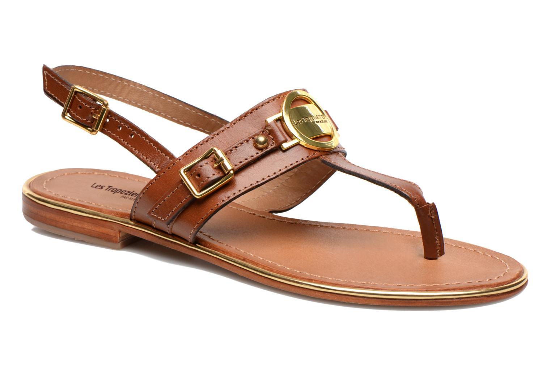 Sandales et nu-pieds Les Tropéziennes par M Belarbi Bebop Marron vue détail/paire