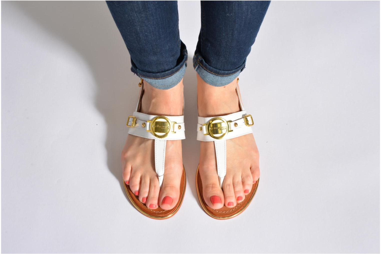 Sandales et nu-pieds Les Tropéziennes par M Belarbi Bebop Blanc vue bas / vue portée sac