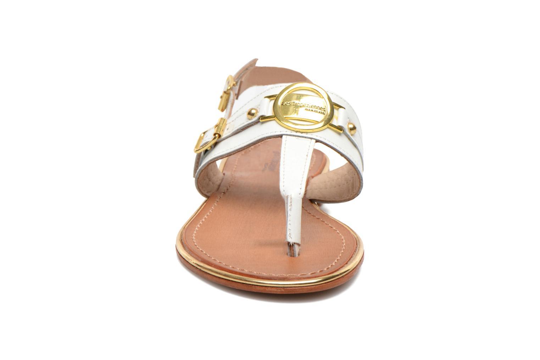 Sandales et nu-pieds Les Tropéziennes par M Belarbi Bebop Blanc vue portées chaussures