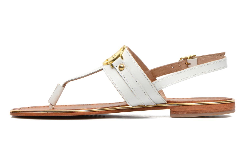Sandales et nu-pieds Les Tropéziennes par M Belarbi Bebop Blanc vue face