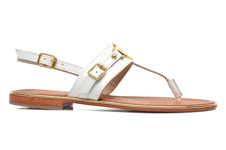 Sandales et nu-pieds Les Tropéziennes par M Belarbi Bebop Blanc vue derrière